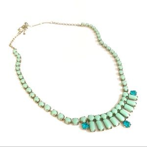 Fossil Mint Stone Vintage Inspired Necklace